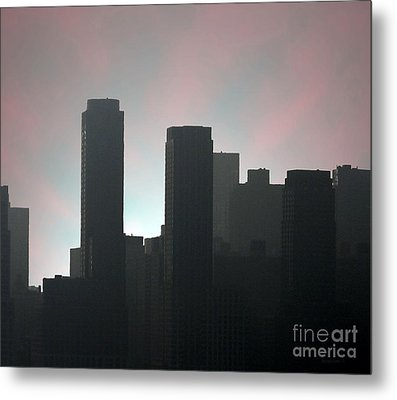 Photograph Of Manhattan In The Morning  Metal Print by Mario Perez