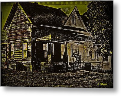 Photos In An Attic - Homestead Metal Print by Leslie Revels Andrews
