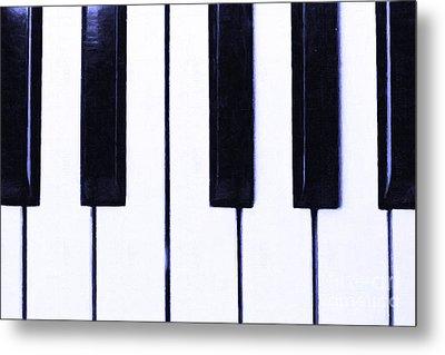 Piano Keys Metal Print by Wingsdomain Art and Photography
