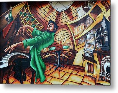 Piano Man Metal Print by Bob Christopher