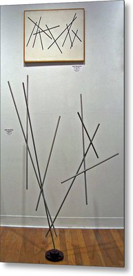 Pick Up Sticks And Thunderbird Metal Print by John Neumann