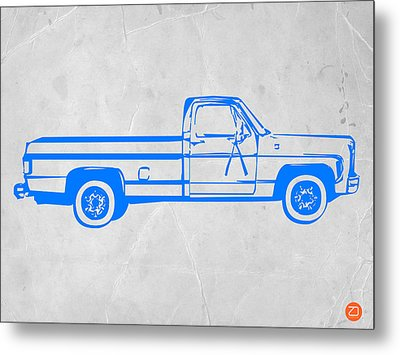 Pick Up Truck Metal Print by Naxart Studio