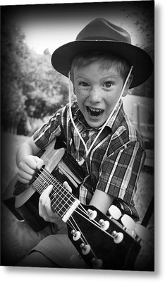 Pickin' Metal Print by Kelly Hazel
