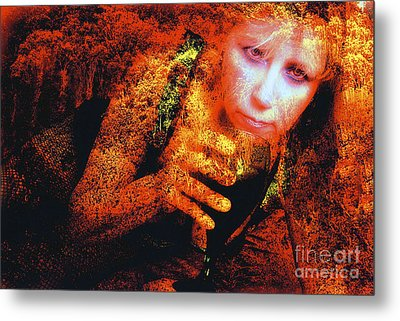 Picnic In The Forest Metal Print by Clayton Bruster