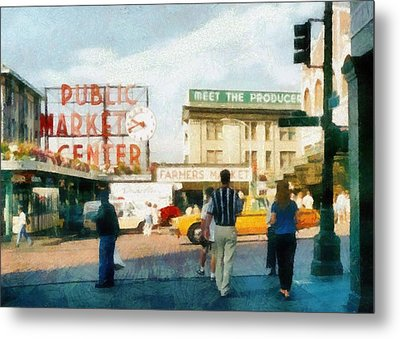 Pike Place Market Metal Print by Michelle Calkins