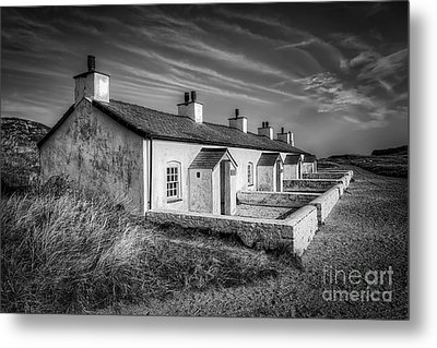 Pilot Cottages Metal Print by Adrian Evans