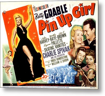 Pin-up Girl, Betty Grable, John Harvey Metal Print by Everett