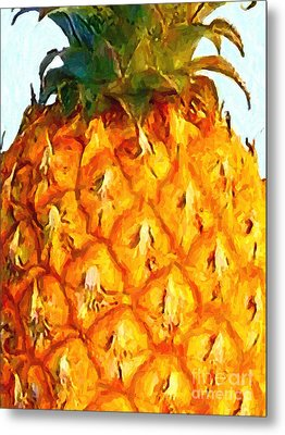 Pineapple Metal Print by Wingsdomain Art and Photography