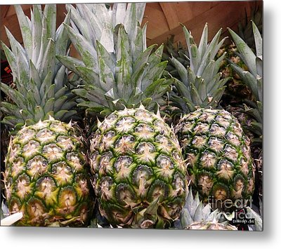 Pineapples Metal Print by Methune Hively