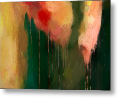 Pink Drips Metal Print by Michael Pickett