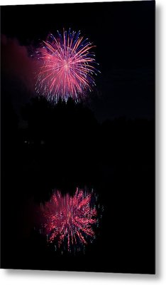 Pink Fireworks Metal Print by James BO  Insogna