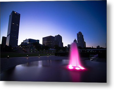 Pink Fountain Metal Print by Jonah  Anderson
