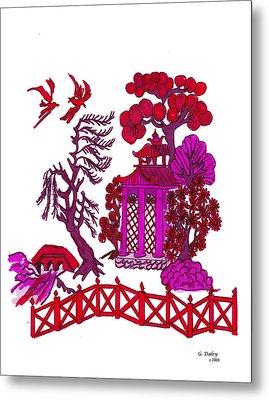 Pink Pagoda Metal Print by Gail Daley