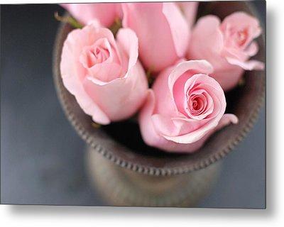 Pink Roses Metal Print by Shawna Lemay