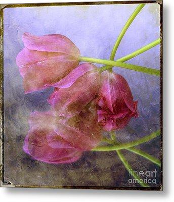 Pink Tulips Metal Print by Bernard Jaubert