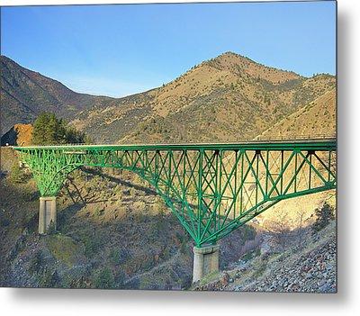 Pioneer Bridge Metal Print by Loree Johnson