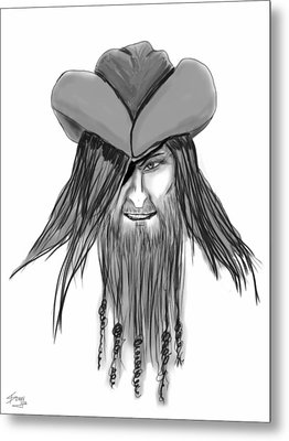 Pirate Patch Metal Print by Donny Stansel