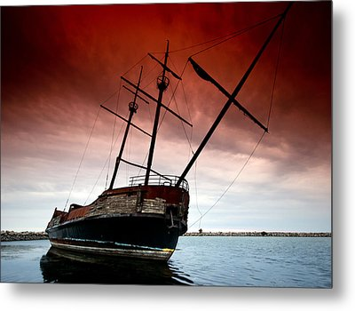 Pirate Ship 2 Metal Print by Cale Best