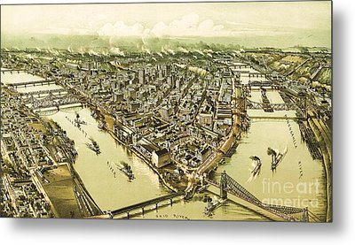 Pittsburg Pennsylvania Metal Print by Pg Reproductions