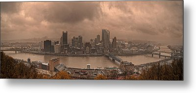 Pittsburgh Skyline 1 Metal Print by Wade Aiken