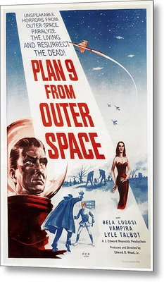 Plan 9 From Outer Space, 1959 Metal Print by Everett