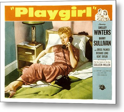 Playgirl, Shelley Winters, 1954 Metal Print by Everett