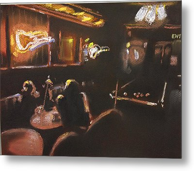 Playing Pool Metal Print by Paul Mitchell