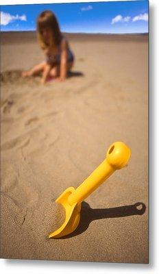 Playtime At The Beach Metal Print by Meirion Matthias