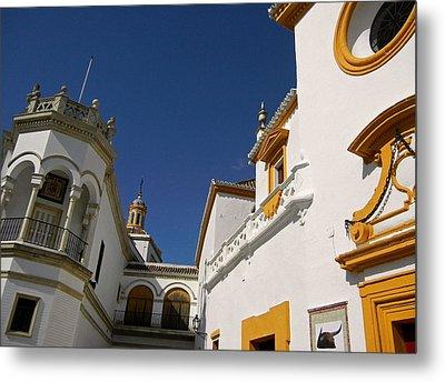 Plaza De Toros De La Real Maestranza - Seville Metal Print by Juergen Weiss