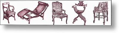 Plum Chair Poster Horizontal  Metal Print by Adendorff Design