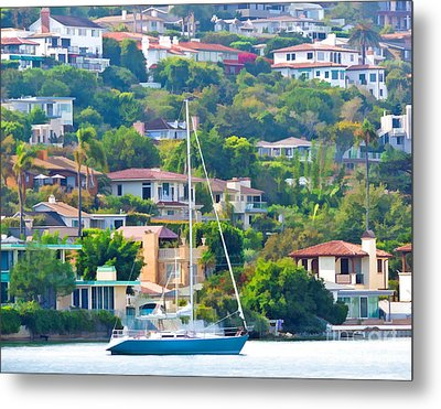 Point Loma Harbor Side Metal Print by L J Oakes