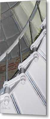 Point Sur Lighthouse Stairway Metal Print by Jim Pavelle
