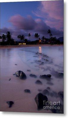 Poipu Evening Storm Metal Print by Mike  Dawson
