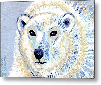 Polar Bear Metal Print by Genevieve Esson