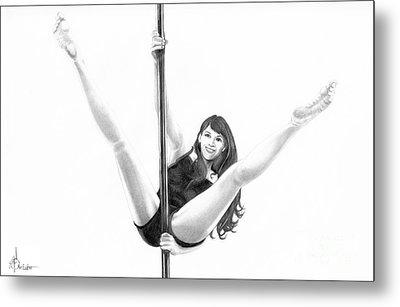 Pole Dancer Metal Print by Murphy Elliott