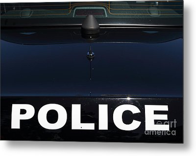 Police . 7d15883 Metal Print by Wingsdomain Art and Photography