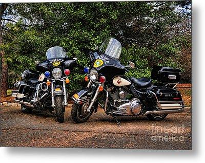 Police Motorcycles Metal Print by Paul Ward