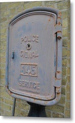 Police Signal Box Metal Print by Daryl Macintyre