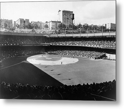 Polo Grounds, During The 1937 World Metal Print by Everett