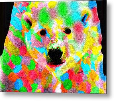 Polychromatic Polar Bear Metal Print by Anthony Caruso