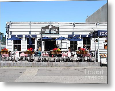 Pompeis Grotto Restaurant . Fishermans Wharf . San Francisco California . 7d14197 Metal Print by Wingsdomain Art and Photography