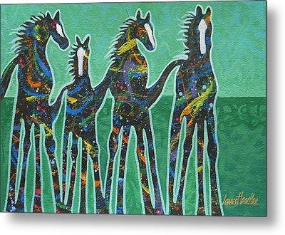 Pony Pastures Metal Print by Lance Headlee