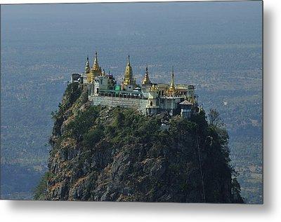Popa Mountain Top Temple Metal Print by Huang Xin
