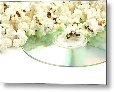 Popcorn And Movie  Metal Print by Blink Images
