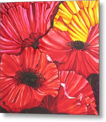 Poppies Fantasy Metal Print by Gabriela Stavar