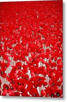 Poppy Meadow ... Metal Print by Juergen Weiss