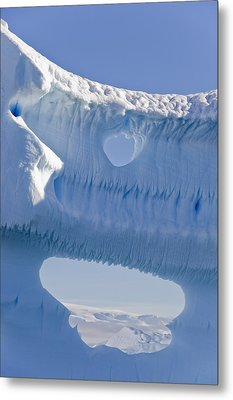 Portion Of A Gigantic Iceberg Metal Print by Ron Watts