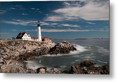 Portland Head Light 19482c Metal Print by Guy Whiteley