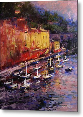Portofino At Sundown Metal Print by R W Goetting