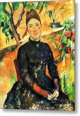 Portrait Madame Cezanne Metal Print by Pg Reproductions